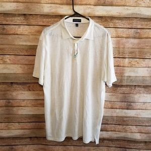 Peter Millar Collection Linen Polo NWOT Large EUC